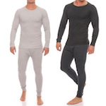 Men-Underpants long johns Thermo plain grey, blue and anthracite