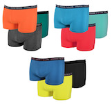 fashionable, close-fitting boxer in beautiful plain colors: berry, gray-orange, navy, orange, anthracite melange, green, petrol