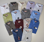 Long sleeved leisure shirts uni coloured, striped or chequered