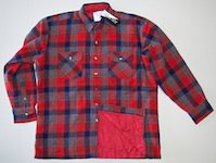 Lumberjack jacket with polyester lining plaid