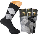 Classical Plaid mens thermo socks full terry