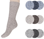 plain melange colored ladies norwegian wool socks
