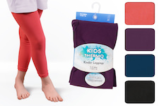 Child`s thermo leggings plain with fleece lining