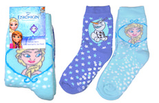 Girls full terry socks with ABS and Disney Frozen motives